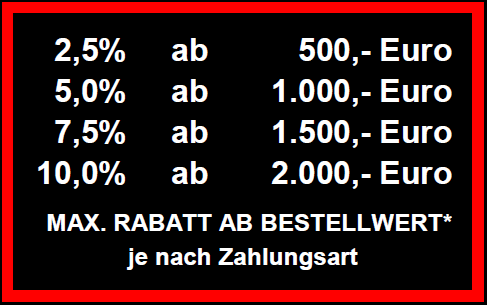 max. Rabatt